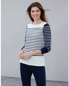 Joules Ladies Harbour Embroidered Long Sleeve Jersey Top