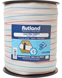 Rutland Electric Fencing 40mm Heavy Duty Electro-Tape White