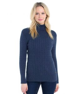 Dubarry Ladies Boylan Polo Neck Sweater French Navy