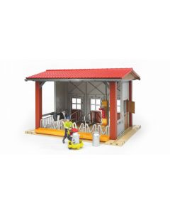 Bruder Bworld Toy Cow Barn With Milking Machine