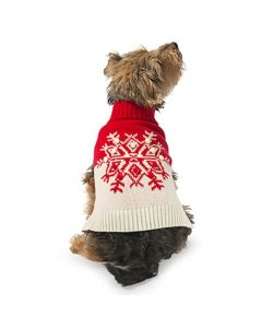 Ancol Snowflake Dog Jumper Red