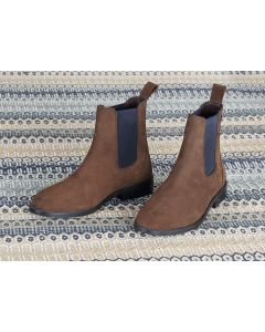 Shires Ladies Moretta Antonia Suede Chelsea Boots Brown