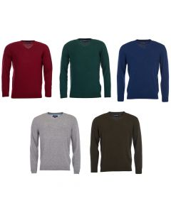 Barbour Mens Essential Lambswool V Neck Sweater - Cheshire, UK
