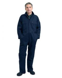 Hoggs of Fife Deluxe Boilersuit Studded Front Navy