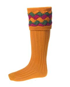 House of Cheviot Mens Bowhill Ochre Socks