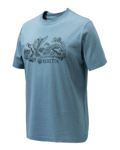 Beretta Mens Engraved Ducks T-Shirt