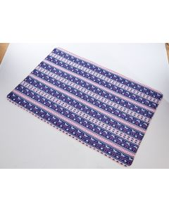 Platinum Fairisle Fleece Blanket Horse Print Navy