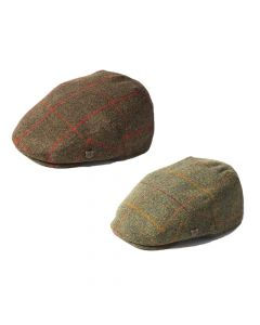 Failsworth Mens Gamekeeper Tweed Flat Cap