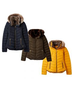 Joules Ladies Gosway Padded Jacket With Detachable Hood