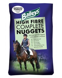 Baileys High Fibre Complete Nuggets Horse Feed 20KG