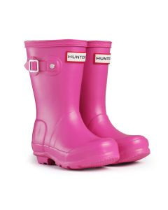 Hunter Kids Original Wellington Boots Fuschia