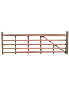 Iroko Timber Entrance Gate