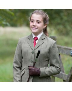 Equetech Junior Launton Tweed Jacket Green