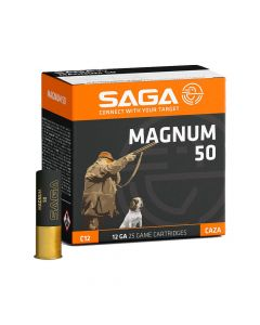 SAGA Magnum 12 Gauge 50 Gram Plastic Shotgun Cartridge - Cheshire, UK