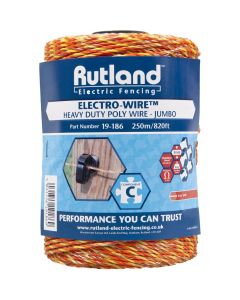 Rutland 6mm Jumbo Electro-Wire Orange
