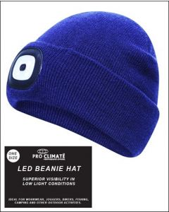 Platinum Pro Climate Vision LED Beanie Hat Navy - Chelford Farm Supplies