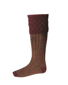 House of Cheviot Rannoch Moor Burgundy Socks