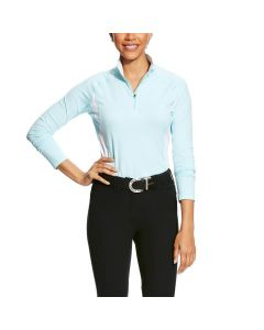 Ariat Ladies Tri Factor 1/4 Zip Baselayer Top