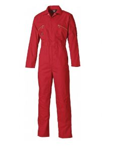 Dickies WD4839 Redhawk Boilersuit with Zip Front Red