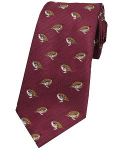 Sax Mens Woven Silk Tie Country Pheasants Wine