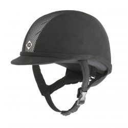 Charles Owen Junior AYR8 Riding Hat Black / Silver
