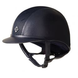 Charles Owen AYR8 Leather Look Riding Hat Navy