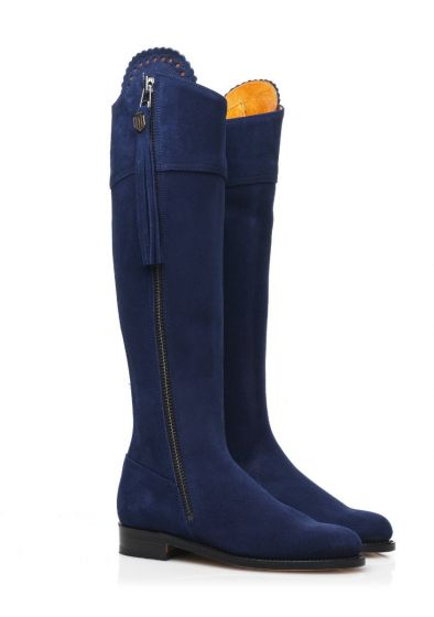 Fairfax & Favor Ladies Regina Suede Boot Royal Blue