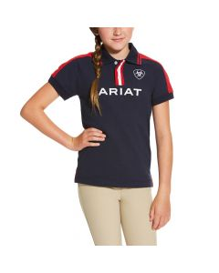 Ariat Youth New Team Polo Navy