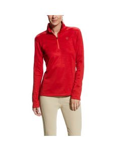 Ariat Ladies Conquest 1/2 Zip Top Salsa