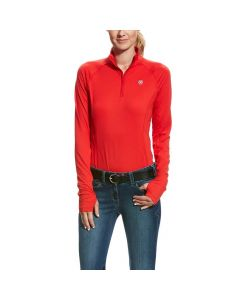 Ariat Ladies Lowell 2.0 1/4 Zip Top Salsa
