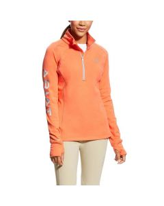 Ariat Ladies Tek Team 1/2 Zip Fleece Calypso Coral