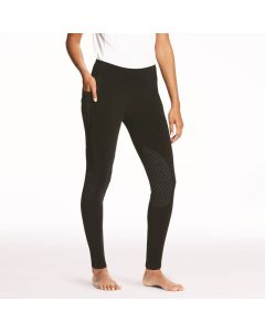 Ariat Ladies Prevail Insulated Performance Riding Tights Knee Patch Black