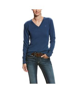 Ariat Ladies Ramiro Merino Wool Sweater Dark Denim