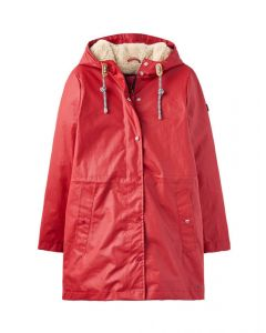 Joules Ladies Rainaway Waterproof Coat Red