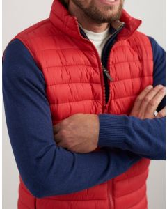 Joules Mens Lightweight Barrel Go To Gilet Red