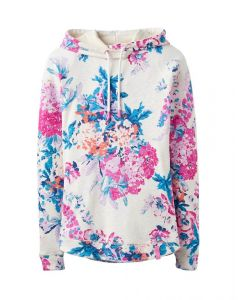 Joules Ladies Marlston Print Hooded Sweatshirt