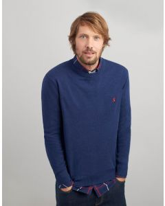 Joules Mens Jarvis Crew Neck Jumper French Navy Marl