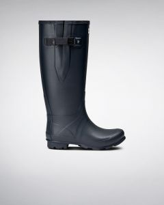 Hunter Womens Norris Wide Fit Wellington Boots Navy