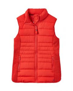 Joules Ladies Fallow Padded Gilet Nelson Red