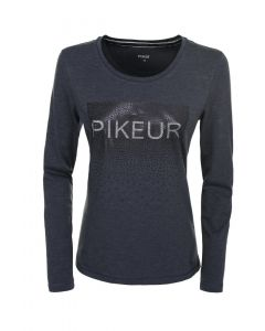 Pikeur Ladies Valentina Long Sleeve Top Navy Melange