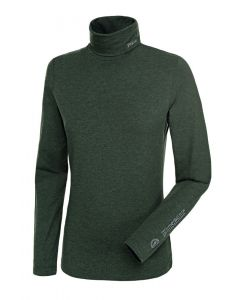 Pikeur Ladies Sina Polo Neck Pullover Pine Green Melange