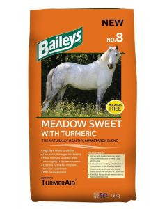 Baileys No.8 Meadow Sweet With Tumeric Horse Feed 15kg