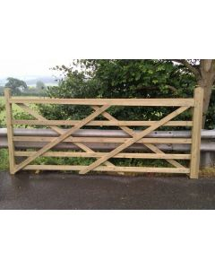 Timber Field Gate
