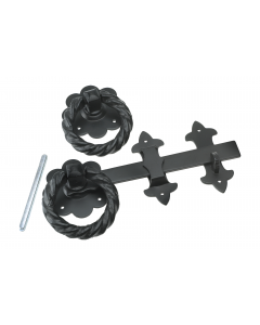 Eliza Tinsley Large Black Ring Gate Latch 254 mm (10 inch)