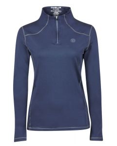 Dublin Ladies Diamond Long Sleeve Performance Top Navy