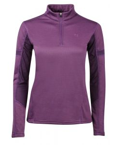 Dublin Ladies Moonstone Long Sleeve Technical Top Plum