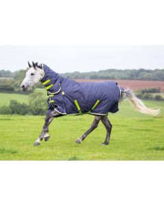 Shires Highlander Original 200g Mediumweight Combo Turnout Rug Charcoal/Grey/Lime