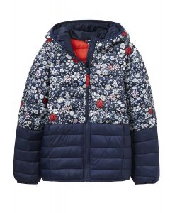 Joules Jnr Kinnaird Padded Jacket French Navy Ria Ditsy