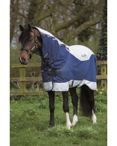 Horseware Rambo Summer Series 0g Turnout Rug Navy/Grey