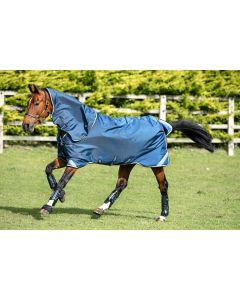 Horseware Rambo Tech Duo Turnout Rug Bundle Denim/Tan